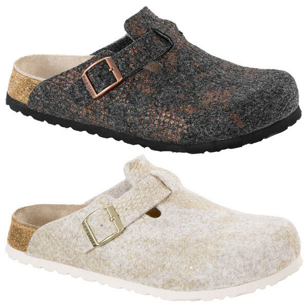 Birkenstock Papillio Boston Wollfilz Damen Schuhe Hausschuhe Sandale Damen Wollfilz Pantoletten 19a567