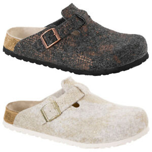 Birkenstock-Papillio-Boston-Wollfilz-Schuhe-Hausschuhe-Sandale-Damen-Pantoletten