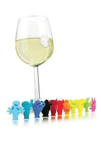 Silicone-Party-People-Wine-Glass-amp-Drink-Markers-Charms-Set-of-12-SS