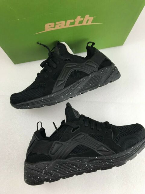 0d1c7481cb Earth Gallivant Womens Lace up Knit SNEAKERS Size 8.5 Wide Black Fabric  Mesh for sale online | eBay