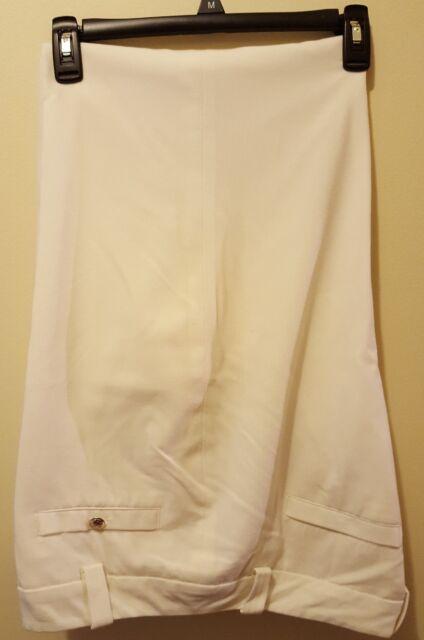 CATO Womens Lined Dress Slacks Off White Ivory Stretch, Belt Loops, Cuffs sz 16