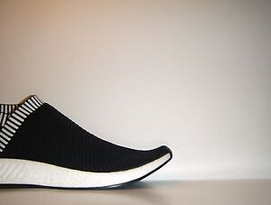 121504a237a Adidas NMD CS2 City Sock 2 PK White Black Boost PrimeKnit BA7188 Sz ...