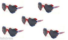 Bulk Buy 5x Novelty Heart Shaped Union Jack Sunglasses