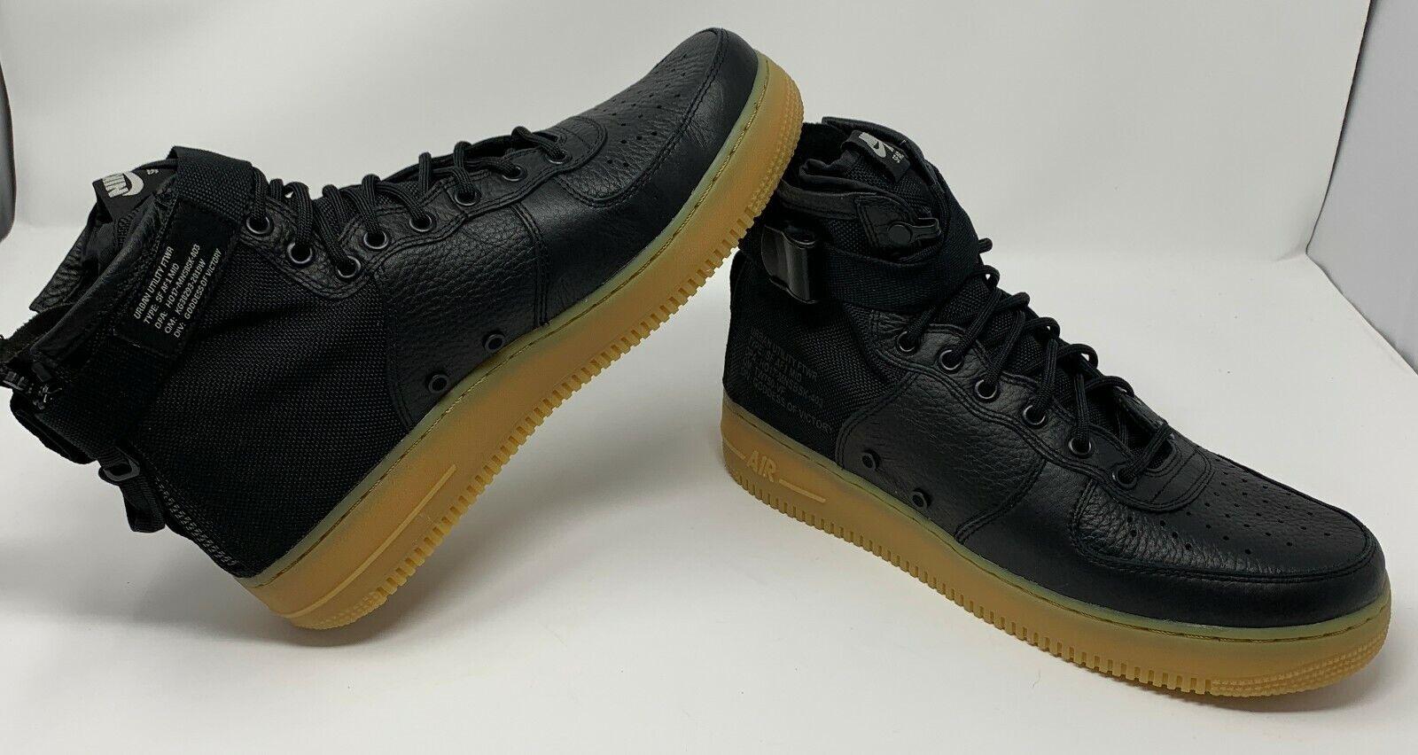Nike SF AF1 Mid 917753-003 Black Gum –Men's Size 11 NO BOX TOP
