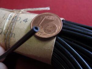 schwarz  10m             23262 EXTRA DÜNNER ISOLIERSCHLAUCH D=2mm 1,2mm innen
