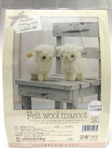 Needle Felting Kit Sheep Japan Wool Felt Craft Mascot Series Hamanaka F//S