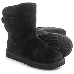 fcfbb57508d Details about NEW IN BOX WOMENS UGG REMORA BLACK SUEDE SHEEPSKIN BUCKLE  BOOTS SIZE US 7
