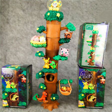 Anime Miniature Forest Tree Collection Figure Toys Pikachu Eevee Charmander 8pcs