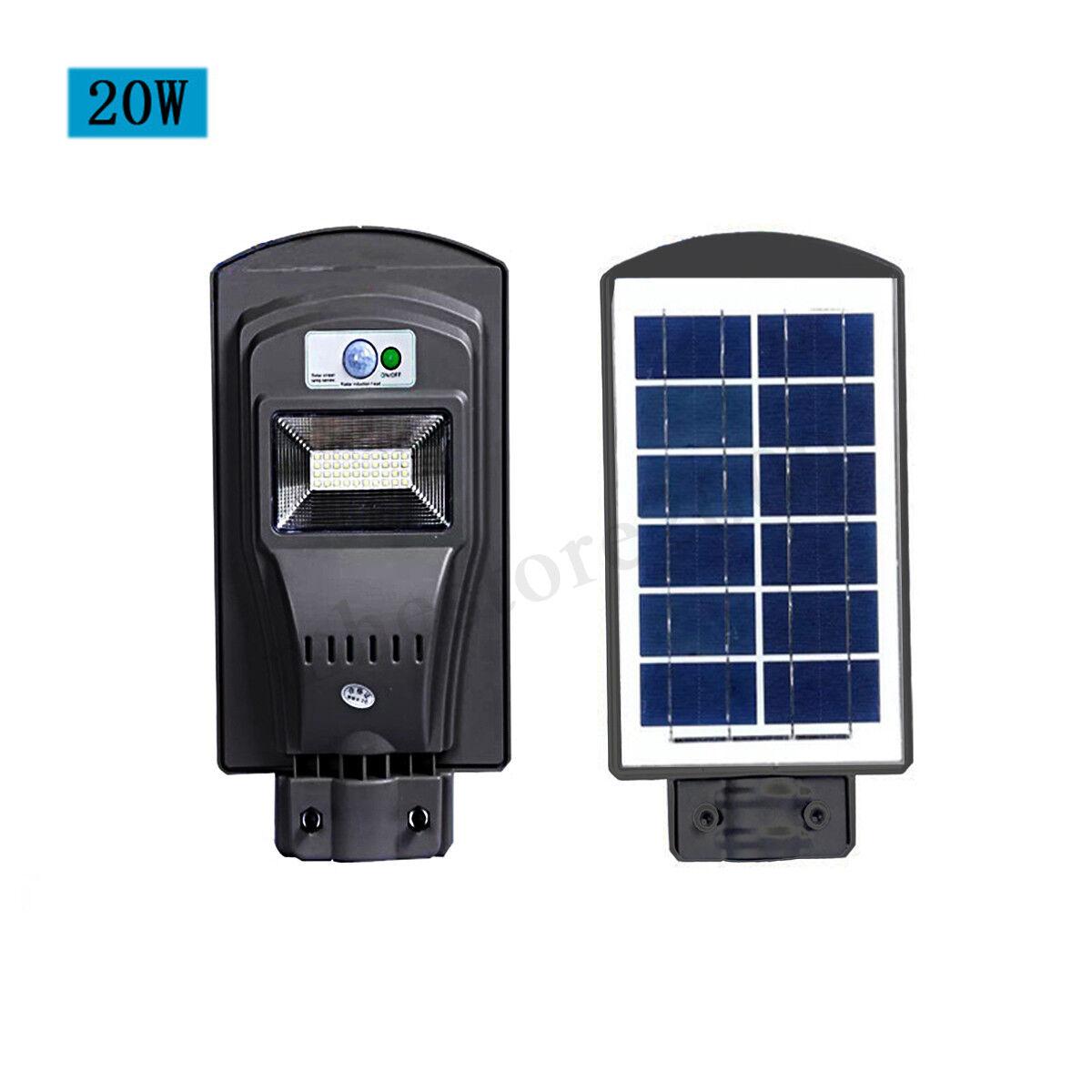 20W 40W 60W LED Solar Power Street Light Wall PIR PIR PIR Motion Sensor Lamp Outdoor Lot 729b14