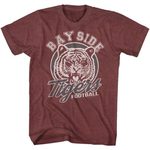 Saved By The Bell Bayside Tigers Football Adult T Shirt 1990/'s TV Show