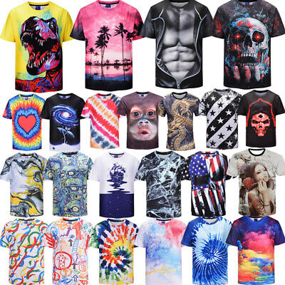 3D Printing T-Shirt Casual Tops Short Sleeve Tee Men/'s Women/'s Clothes Outfit