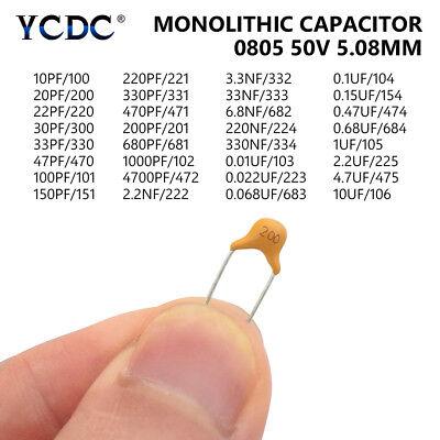 1200pcs Set Capacitors 24-values Single-chip Ceramic Assortment Kit With Box