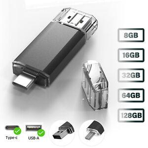 USB Type C Flash Drive Memory Stick Thumbdrive For Samsung Phone iPad PC Laptop