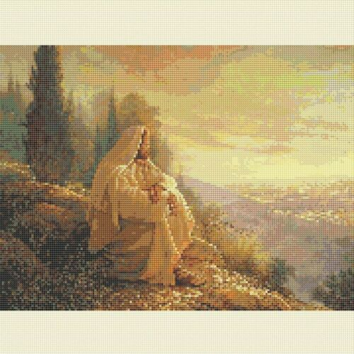 DIY 5D Diamond-Painting Full Drill Mountain Jesus Stitch Kits Decor Gifts