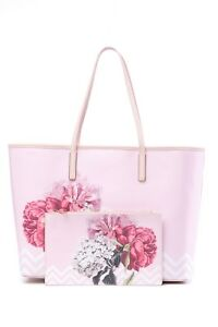 9272dae1b NWT Ted Baker London Payten Palace Gardens Canvas Shopper Pink Tote ...