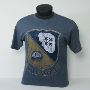 US-Navy-Blue-Angels-Distressed-Vintage-Crest-t-shirt
