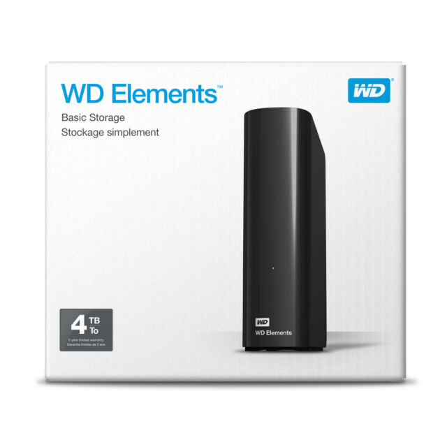 "HARD DISK ESTERNO WD ELEMENTS 4TB 3,5"" WESTERN DIGITAL desktop WDBWLG0040HBK"
