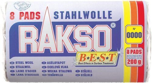 Rakso Stahlwolleschleifkissen Sorte 3 grob 200 g in 8 Pads
