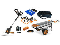 Wg050 Worx Aerocart Kit: 8-in-1 Wheelbarrow, Gt, Tub Organizer & Water Hauler