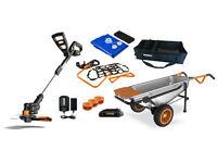 Wg050 Worx Aerocart Kit: 8-in-1 Wheelbarrow, Gt, Tub Organizer & Water Hauler