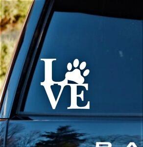 CAT LOVE Vinyl Decal Sticker Car Van 4x4 Window Bodywork Wall Art Black