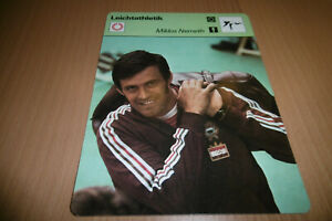 MIKLOS-NEMETH-LEICHTATHLETIK-Sammelbild-Editions-Rencontre-Lausanne-1977