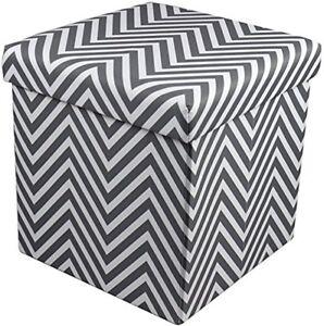 Sorbus-Chevron-Foldable-Collapsible-Storage-Ottoman-Cube-Chevron-Gray