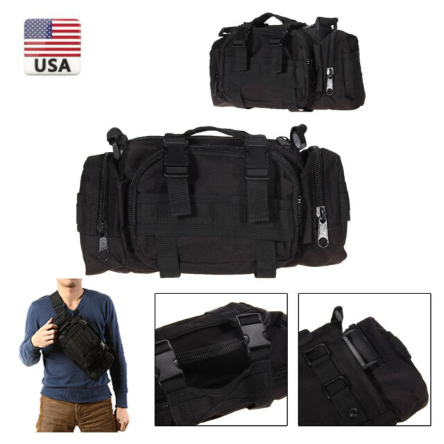 Outdoor Military Tactical Waist Shoulder Pouch Bag Pack Molle Camping Hiking 3P