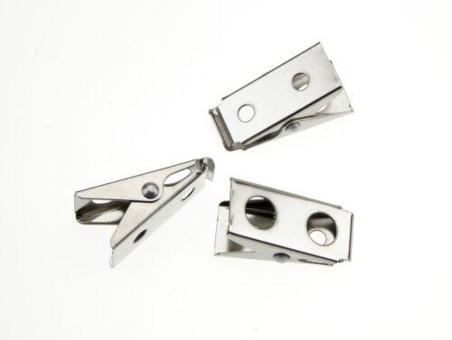 50 Pieces Spring badge Clip Nickel Plated