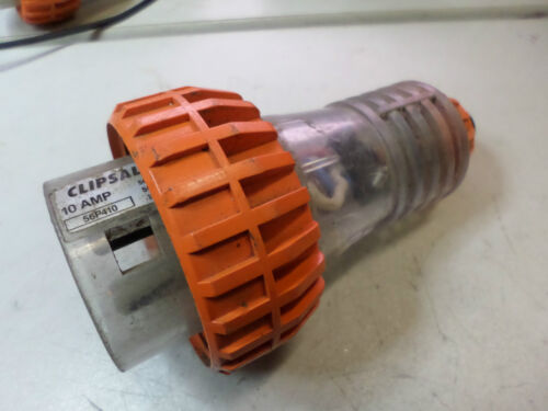 CLIPSAL 3PHASE STRAIGHT PLUG -- 10 AMP 4 PIN -- 56P410 -Good Condition Qty Avail