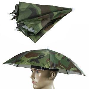 4b62ab8bd8ed5 Sport Foldable Nylon Umbrella Hat Cap Sun Rain Umbrella Elastic ...