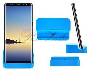Calidad-Premium-Nuevo-Original-Micro-Usb-Estacion-de-Soporte-de-carga-Cable-Dock-Azul