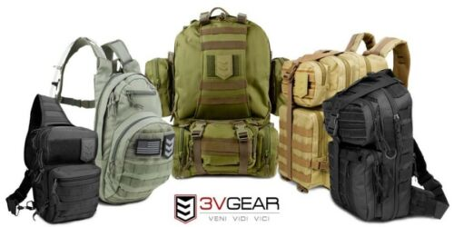 3 V Gear paratus 3 Jour de l/'opérateur Pack Sac à dos Bob Bug Out Bag Garantie à vie