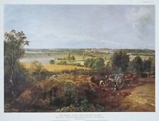 Stour Valley & Dedham Village, Constable vintage print, John Constable -44x34cm