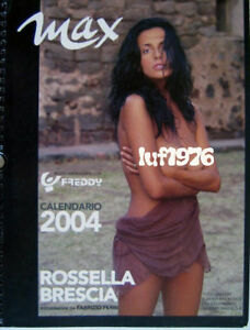Calendario Max.Details About Calendar Sexy Rossella Brescia Nude Calendario Max 2004