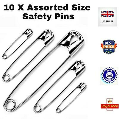 54MM METAL SAFETY PINS SILVER SEWING COSTUME CRAFT DRESS MAKING