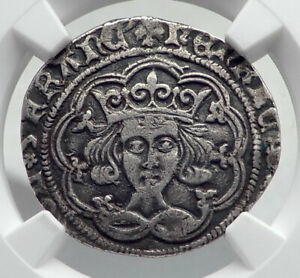 1430AD-GREAT-BRITAIN-UK-King-HENRY-VI-Silver-Fourpence-Groat-Coin-NGC-i80916