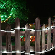 LE 33ft Solar Rope Lights, Waterproof, 100 LEDs, 1.2 V, Daylight White, Portable