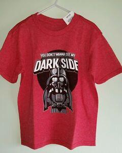 5aac7843 Details about NWT Star Wars Boys 4 5-6 7 Short Sleeve Tee Shirt DARTH VADER  Dark Side #120915