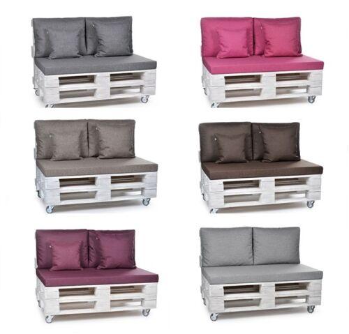 Palettes de rembourrage coussin palettes palette coussins de dos mobilier de jardin Coussins 8 Couleurs
