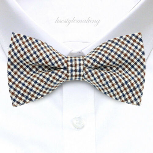 New Fashion Cotton Luxury Classic Check Bow tie Adjustable MENS Bow tie B452