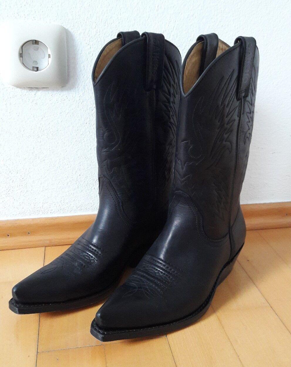 Sancho Boots Western Stiefel Echtleder schwarz Damen 37 neuwertig