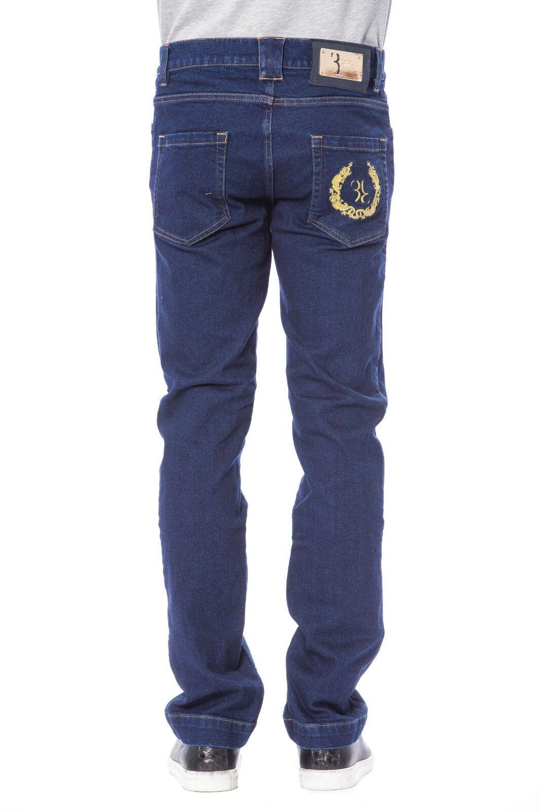 Billionaire Couture Men's Jeans Format Fit Reh bluee 100%Cotton Embl Size  46-58