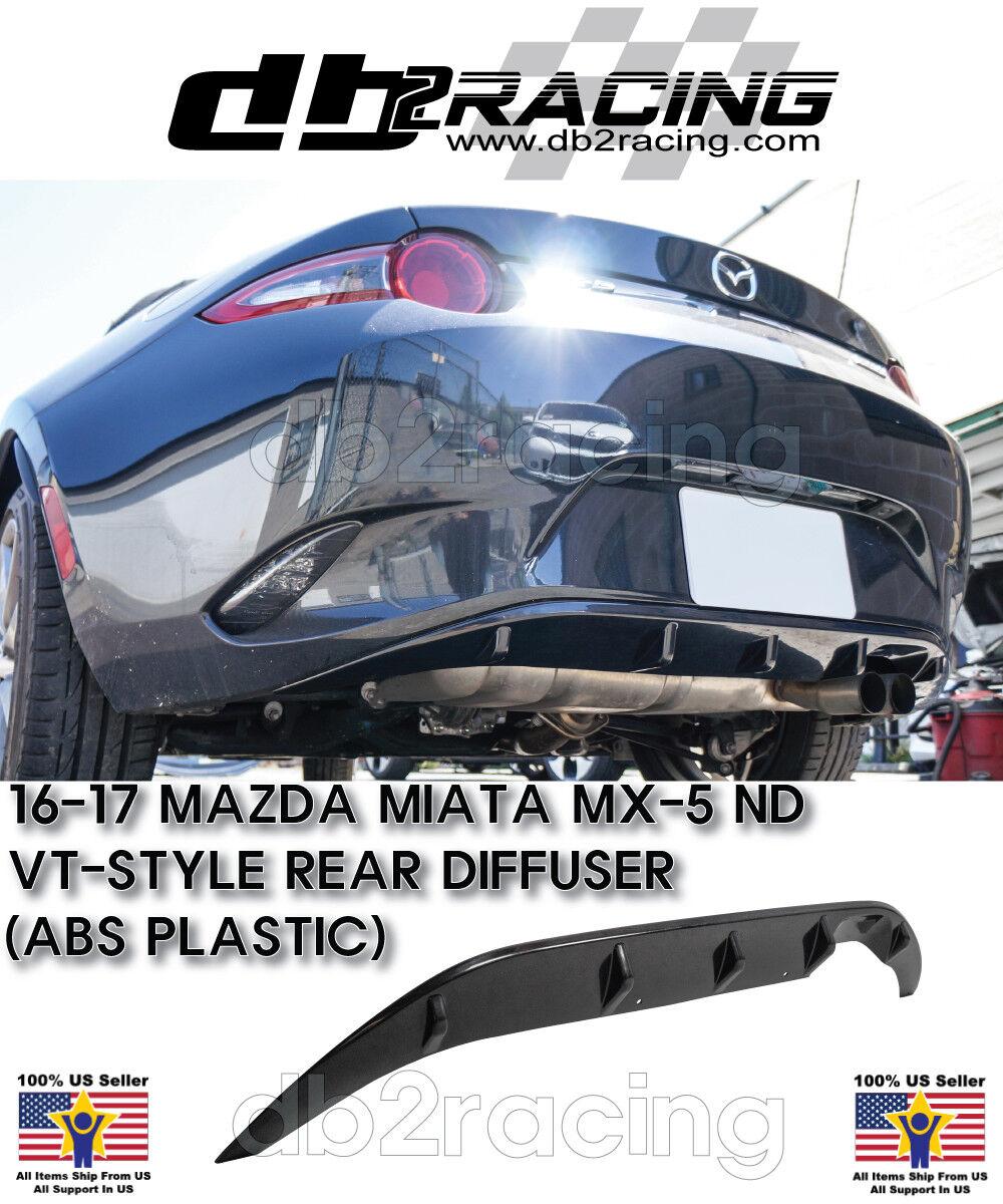 Fits 16-17 Mazda Miata MX5 ND ABS VT-Style JDM Rear Bumper Diffuser