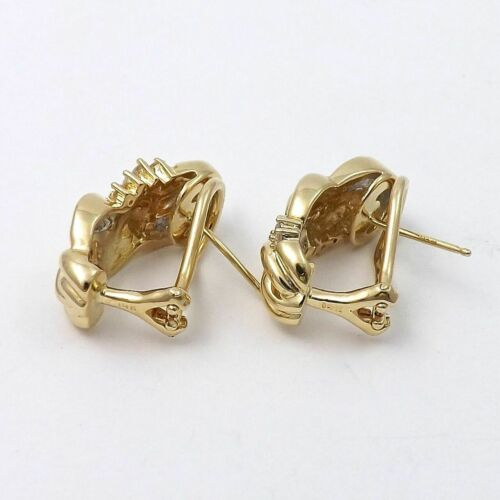 Details about  /Exclusive 14K Yellow Gold Over 1.54CT Round /& Baguette Cut Diamond Earrings