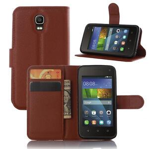Litchi-PU-Portefeuille-Cuir-Pied-Pochette-Etui-pour-Huawei-Y360-Telephone