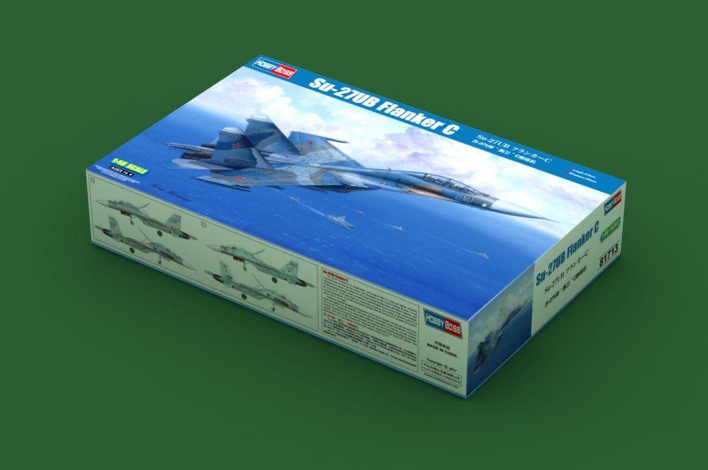 Hobbyboss 81713 1 48 Scale Russian Sukhoi Su-27UB Flanker C Fighter Jet