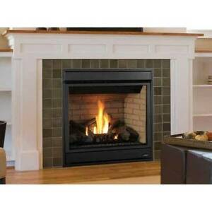 Superior Merit Plus Direct Vent Gas Fireplace Front View Top Vent