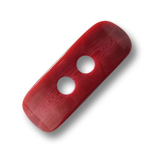 5616ro-15x46 Edle rot glänzende Kunststoff Knebel Knöpfe