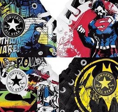 NEW CONVERSE ALL STAR CHUCK TAYLOR DC COMICS - SUPERMAN BATMAN SHOES - 4 Models